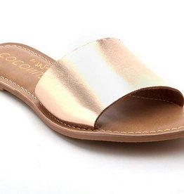Cabana Slide Sandal- Gold