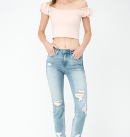 Chase Away My Blues Jeans- Light Denim