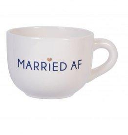 Large Ceramic Cappuccino Mug- Married AF
