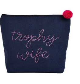 Oversized Canvas Cosmetic Bag- Trophy Wife