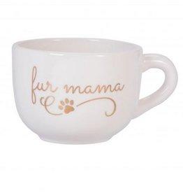 Large Ceramic Cappuccino Mug- Fur Mama
