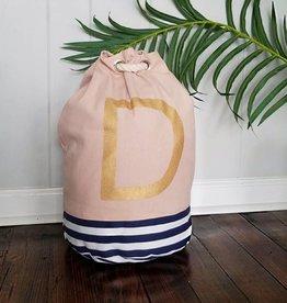 Initial Tote Bag- D