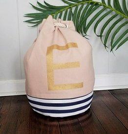 Initial Tote Bag- E