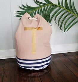 Initial Tote Bag- T
