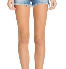 Ride Around Town Distressed  Denim Shorts - Medium Denim