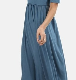 Now And Forever 3/4 Sleeve Maxi Dress - Titanium