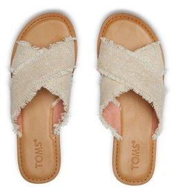 TOMS Women's Viv Sandal Natural Metallic Jute