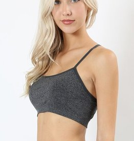 Washed Ashore Bralette- Charcoal
