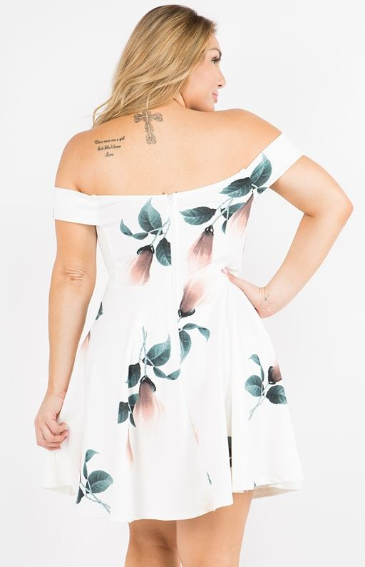 Landed In Paradise Dress- Ivory