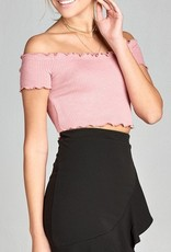 Stuck On Love Crop Top- Dusty Pink