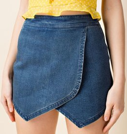 Whisk Me Away Shorts- Denim