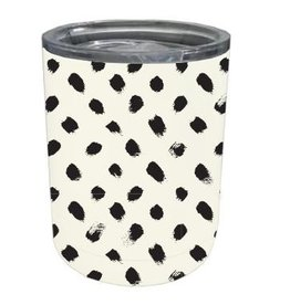 Stainless Coffee Tumbler Black Spots