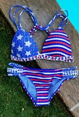 Americana Strappy Side Bottom- Blue
