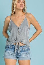Shimmering Nights Crop Top- Cement