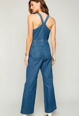 This Love Is Real Jumpsuit- Denim