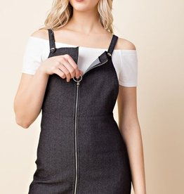Looking For Love Overall Dress - Black