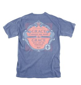 LG-Grace Carried Me Here- SS- Marine Blue