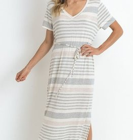 Feather In The Wind Maxi Dress- H. Grey