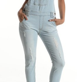 Country Cutie Overalls - Light Blue