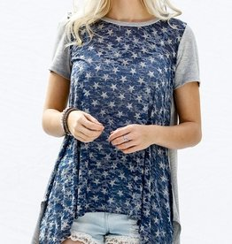 Reach For The Stars Top - Navy