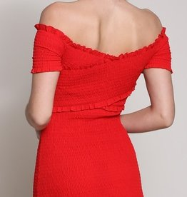 Slow Hands  Dress-Red