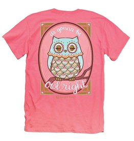 IT-Owl Right-YOUTH SS-Coral