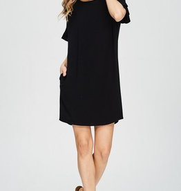 Plenty Of Fish In The Sea Dress- Black
