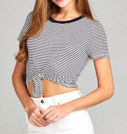 Because Of Your Love Crop Top-Navy