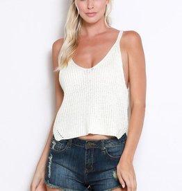 Sunny Street Sweater Tank Top - Ivory