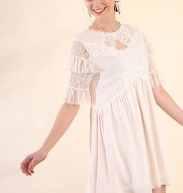 Love For Lace Dress- Cream