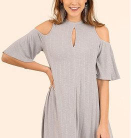 Now You See Me Dress- Cool Grey