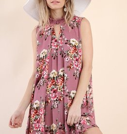 Think Twice Dress- Dusty Rose