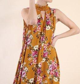 Think Twice Dress- Ochre Mix