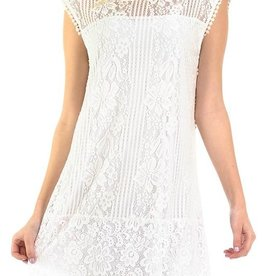 Lovely Lace Dress - White
