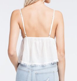 Sugarcoat It Baby Doll Top - White
