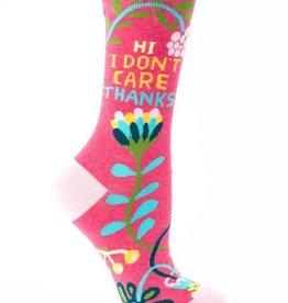 Hi. I Don't Care. Crew Socks