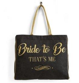 Bride To Be Burlap Tote