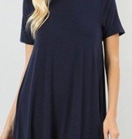 I'm So Basic Dress - Navy