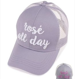 Rose' All Day Color Changing Ponytail Cap- Grey