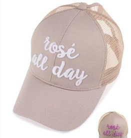 Rose' All Day Color Changing Ponytail Cap- Khaki