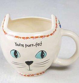 Cream Cat Mug
