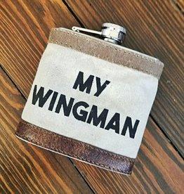 Wingman 6oz Flask W/Sleeve