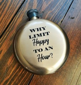 Happy Hour 5 oz Flask Round