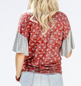 Stroll Under The Stars Top- Red