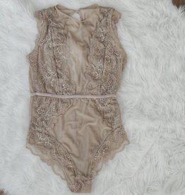 The Sofia Bodysuit - Taupe