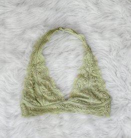 1c071be6c7 Iris Lace Halter Bralette - Pastel Lime