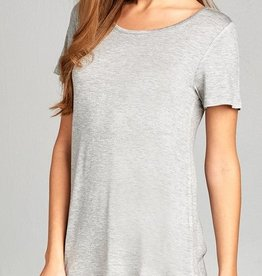 All About That Love Top - Heather Grey