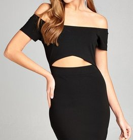 Right About You Mini Dress - Black