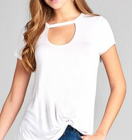 Cut It Out Knot Top - Off White