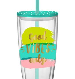 Travel Tumbler 22oz.-Good Vibes Only
